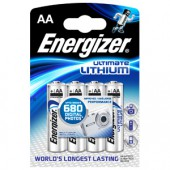 Energizer Lithium AA, E91/FR6, 1,5V, 4er Pack